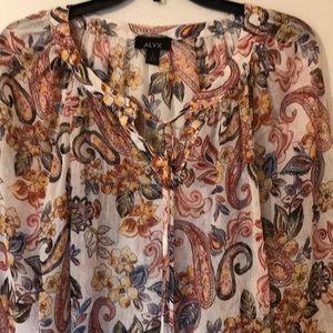 Printed sheet blouse